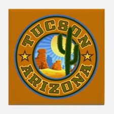 Tucson Desert Circle Tile Coaster