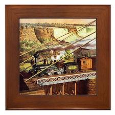 Vintage Train Framed Tile