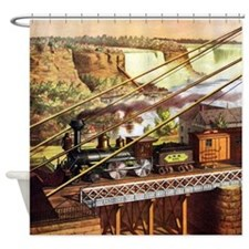 Vintage Train Shower Curtain
