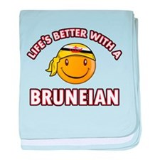 Lifes better with a Bruneian baby blanket