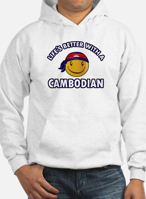 Lifes better with a Cambodian Hoodie