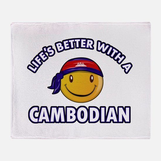 Lifes better with a Cambodian Throw Blanket