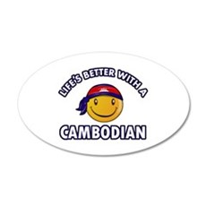 Lifes better with a Cambodian Wall Decal
