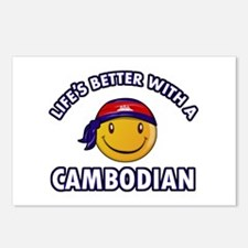 Lifes better with a Cambodian Postcards (Package o