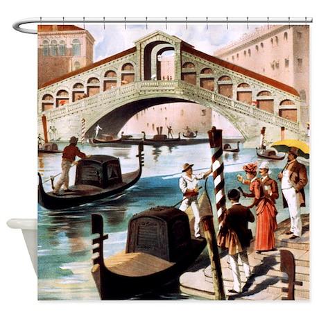 Vintage Venice Shower Curtain