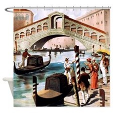 Vintage Venice Shower Curtain
