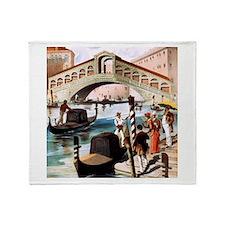 Vintage Venice Throw Blanket