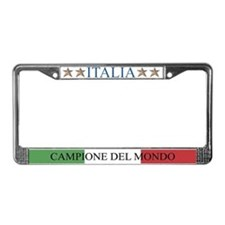 Cute World soccer License Plate Frame
