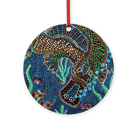 Platypus Adventure Ornament (Round)