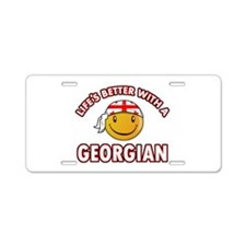 Lifes better with a Georgian Aluminum License Plat
