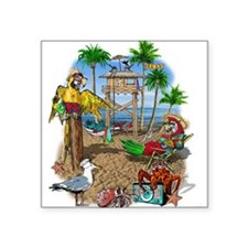 "beachshack9x.jpg Square Sticker 3"" x 3"""