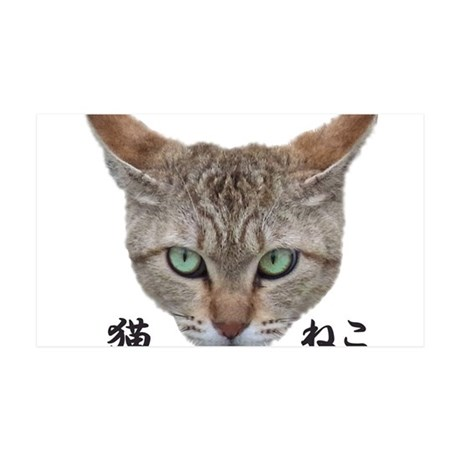 A Face01 Cat with words in japanese, so cool! 35x2