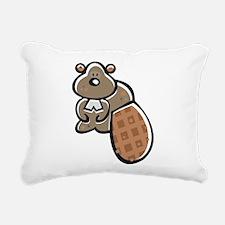 Cute Beaver Rectangular Canvas Pillow