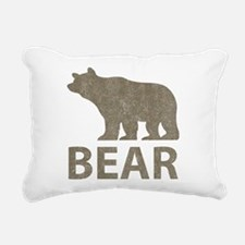 Vintage Bear Rectangular Canvas Pillow