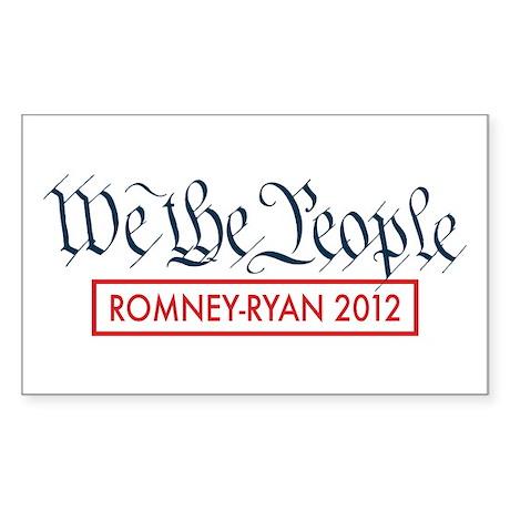 We The People Romney Ryan 2012 Sticker (Rectangle)