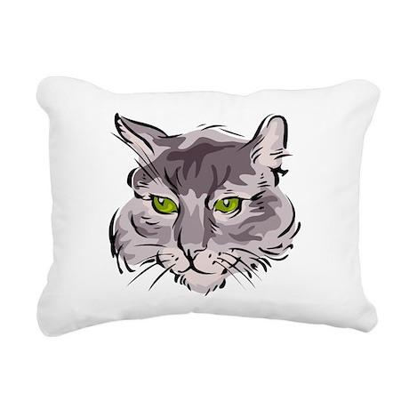Cat Face Rectangular Canvas Pillow