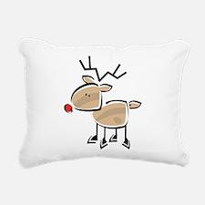 Reindeer Rectangular Canvas Pillow
