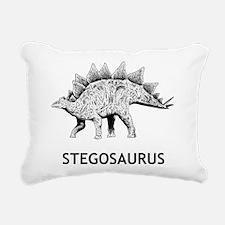 Stegosaurus Rectangular Canvas Pillow