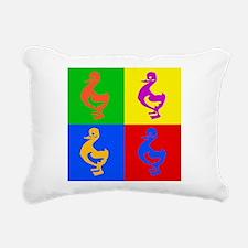 Pop Art Duck Rectangular Canvas Pillow