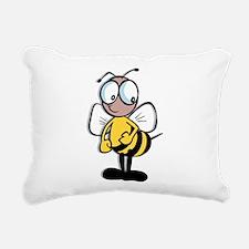Bumble Bee Rectangular Canvas Pillow
