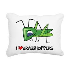 I Love Grasshoppers Rectangular Canvas Pillow