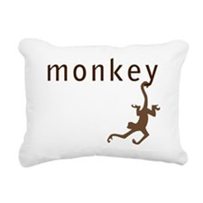 Classic Monkey Rectangular Canvas Pillow