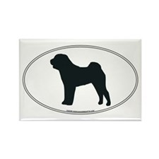 Chinese Shar-Pei Silhouette Rectangle Magnet