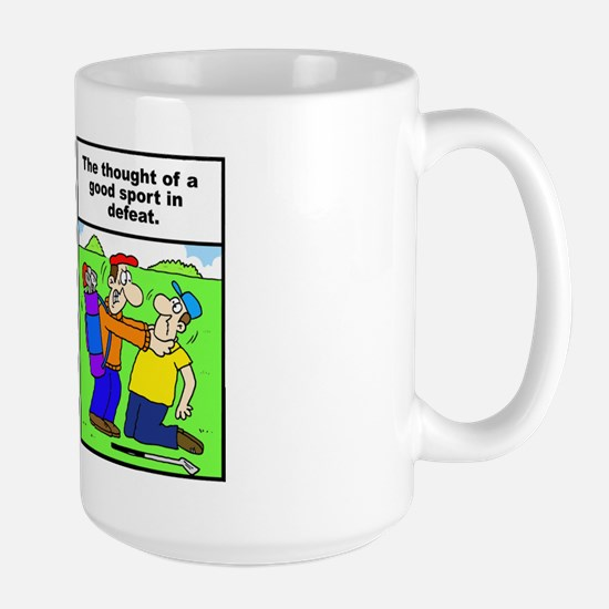 Golf cartoon Large Mug