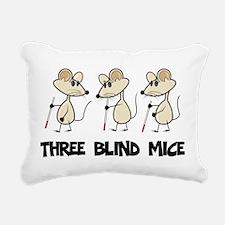 Three Blind Mice Rectangular Canvas Pillow