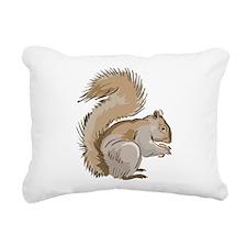 Realistic Squirrel Rectangular Canvas Pillow