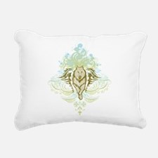 stylized Wolf Rectangular Canvas Pillow