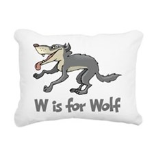 W is for Wolf Rectangular Canvas Pillow