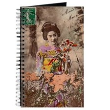 Vintage_Chick Smiling Geisha Girl Journal