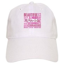 Tribute Square Breast Cancer Baseball Cap