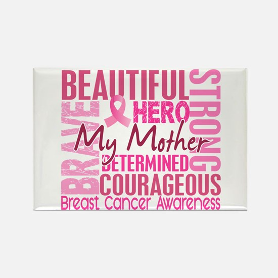 Tribute Square Breast Cancer Rectangle Magnet