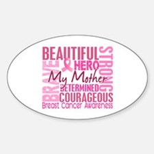 Tribute Square Breast Cancer Decal