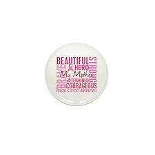 Tribute Square Breast Cancer Mini Button (10 pack)