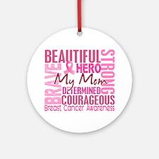 Tribute Square Breast Cancer Ornament (Round)