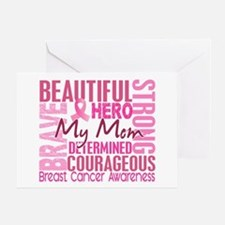 Tribute Square Breast Cancer Greeting Card