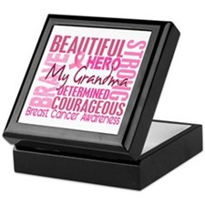 Tribute Square Breast Cancer Keepsake Box