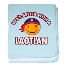 Lifes better with a Laotian baby blanket