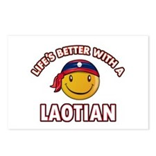 Lifes better with a Laotian Postcards (Package of