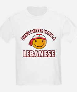 Lifes better with a Lebanese T-Shirt