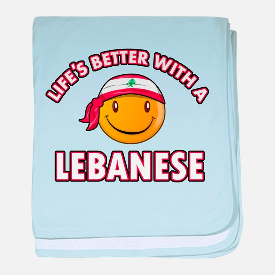 Lifes better with a Lebanese baby blanket