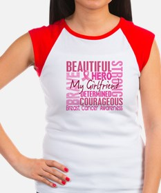 Tribute Square Breast Cancer Women's Cap Sleeve T-