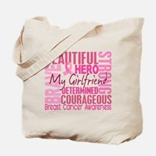 Tribute Square Breast Cancer Tote Bag
