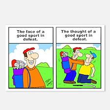 Golf cartoon Postcards (Package of 8)