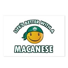 Lifes better with a Macanese Postcards (Package of