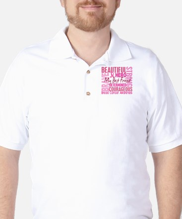 Tribute Square Breast Cancer Golf Shirt