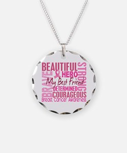 Tribute Square Breast Cancer Necklace